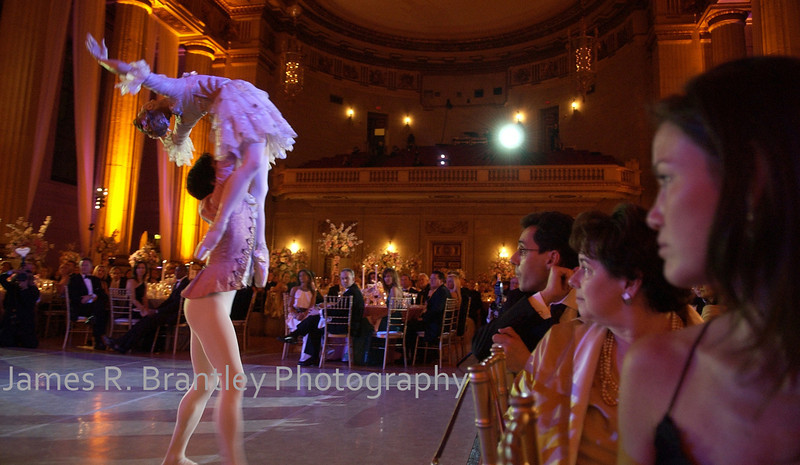 Guests at Washington Ballet annual gala at Mellon Auditorium in Washington, DC enjoy a small taste of the art.     (James R. Brantley)