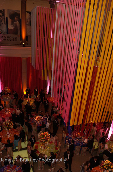 The annual Corcoran Ball transforms the Washington, DC museum's galleries into imaginative dining venues filled with colorful gowns.     (James R. Brantley)