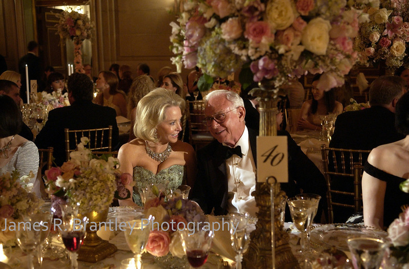 The annual Washington National Ballet gala transforms the cool space of the Mellon Auditorium in Washington, DC into a warm space of soft lighting and colorful flowers awash in ball gowns.     (James R. Brantley)