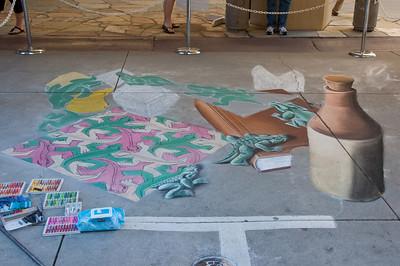 Sidewalk Chalk Art - June 2010