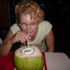 Re's favorite new drink- fresh coconut juice.  This is the MOAC (mother of all coconuts)...