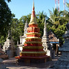 Stupa on temple grounds in Siem Reap (nice shiny paint job)