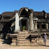 One of two libraries, restored (no books!) inside walls from west entry, Angkor Wat