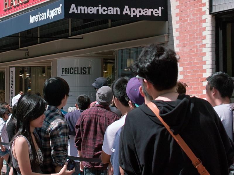 American Apparel Rummage Sale Luckies