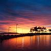 Sunrise over the Strand Rockpool