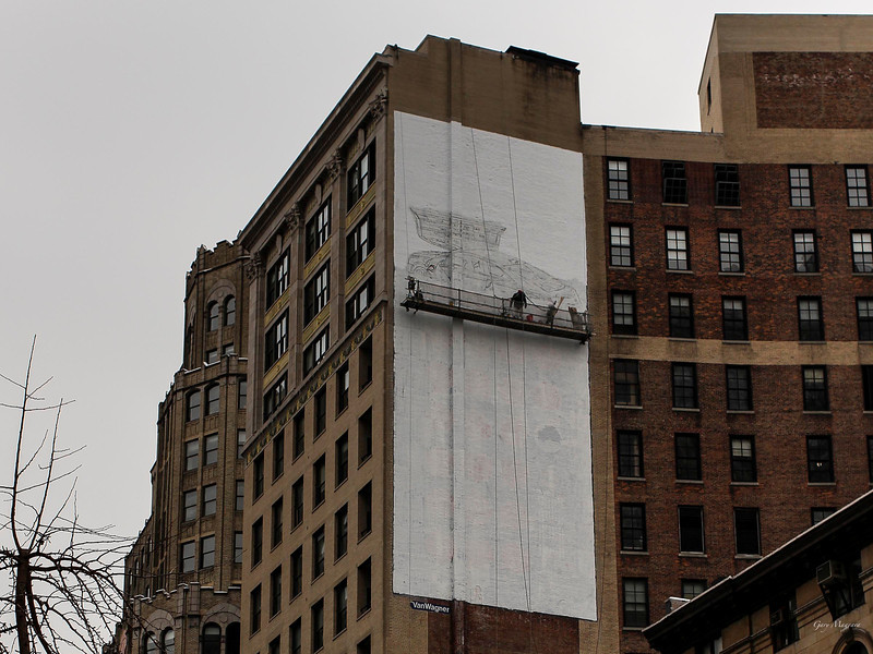 A work in progress Broadway at 15th in New York.