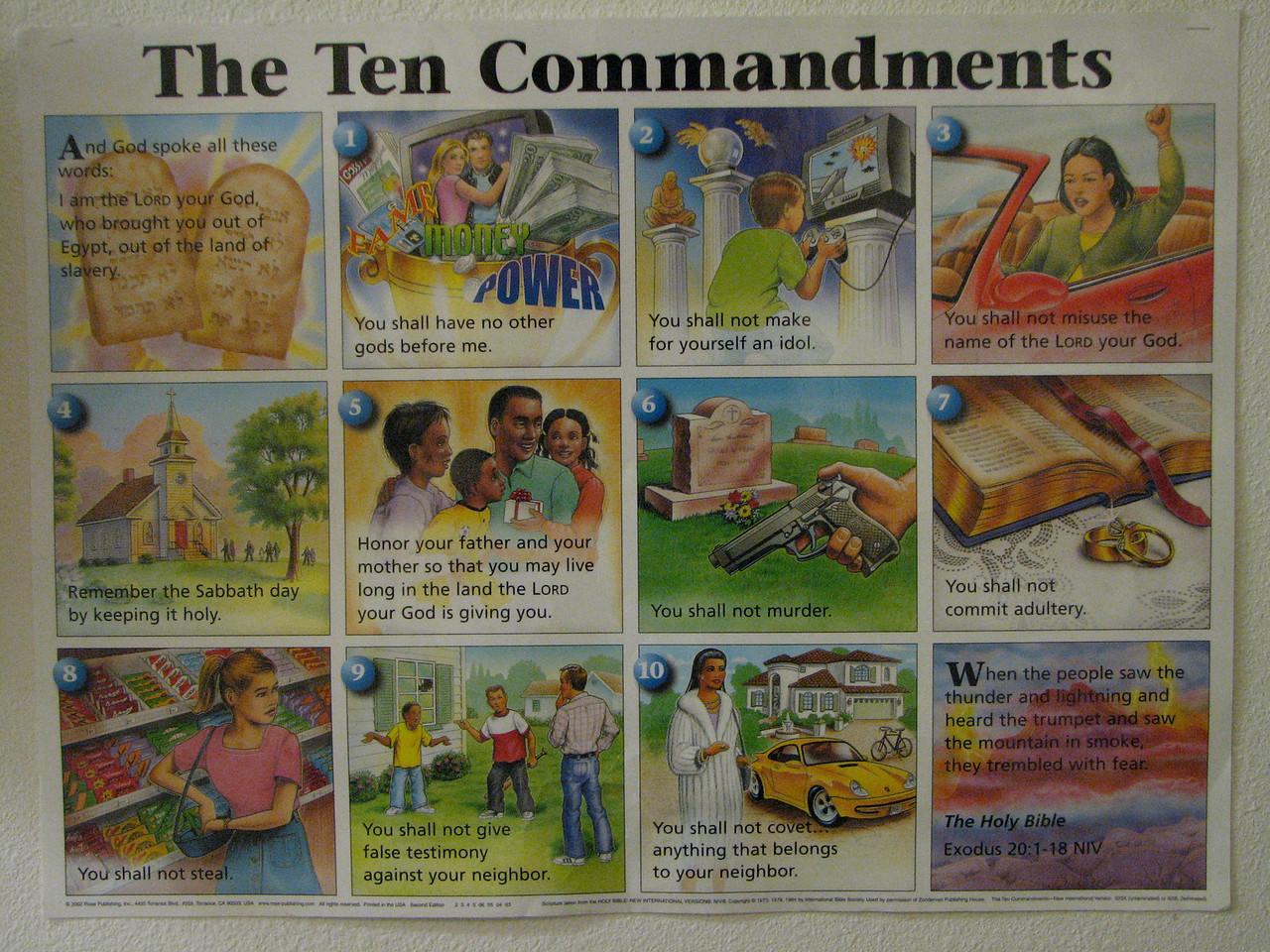 2007 04 13 Fri - Christ EV Free - Hilar 10 Commandments poster