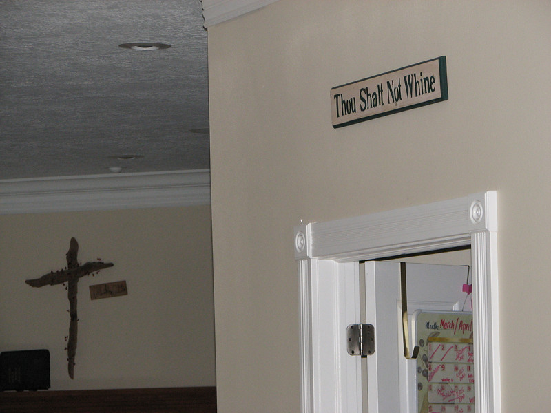 2007 04 09 Mon - Coram Deo house upstairs - 'Thou Shalt Not Whine' tee hee