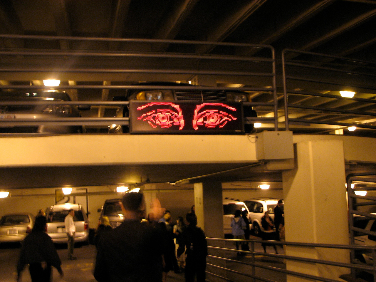2007 04 11 Wed - Temple Square - Exeunt 2 - Big Brother eyes in parking garage