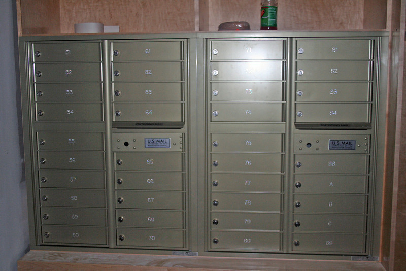 Mailboxes in the common house