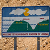 Dead Sea Elevation Sign in Jordan.
