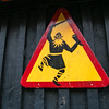 Caution.  Viking Crossing in Iceland.