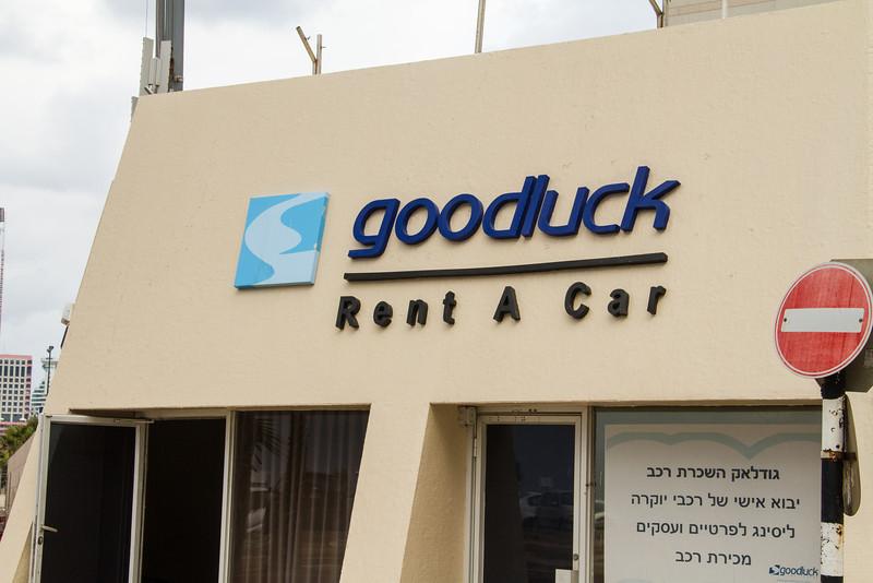 Goodluck Car Rental in Tel Avia, Israel.