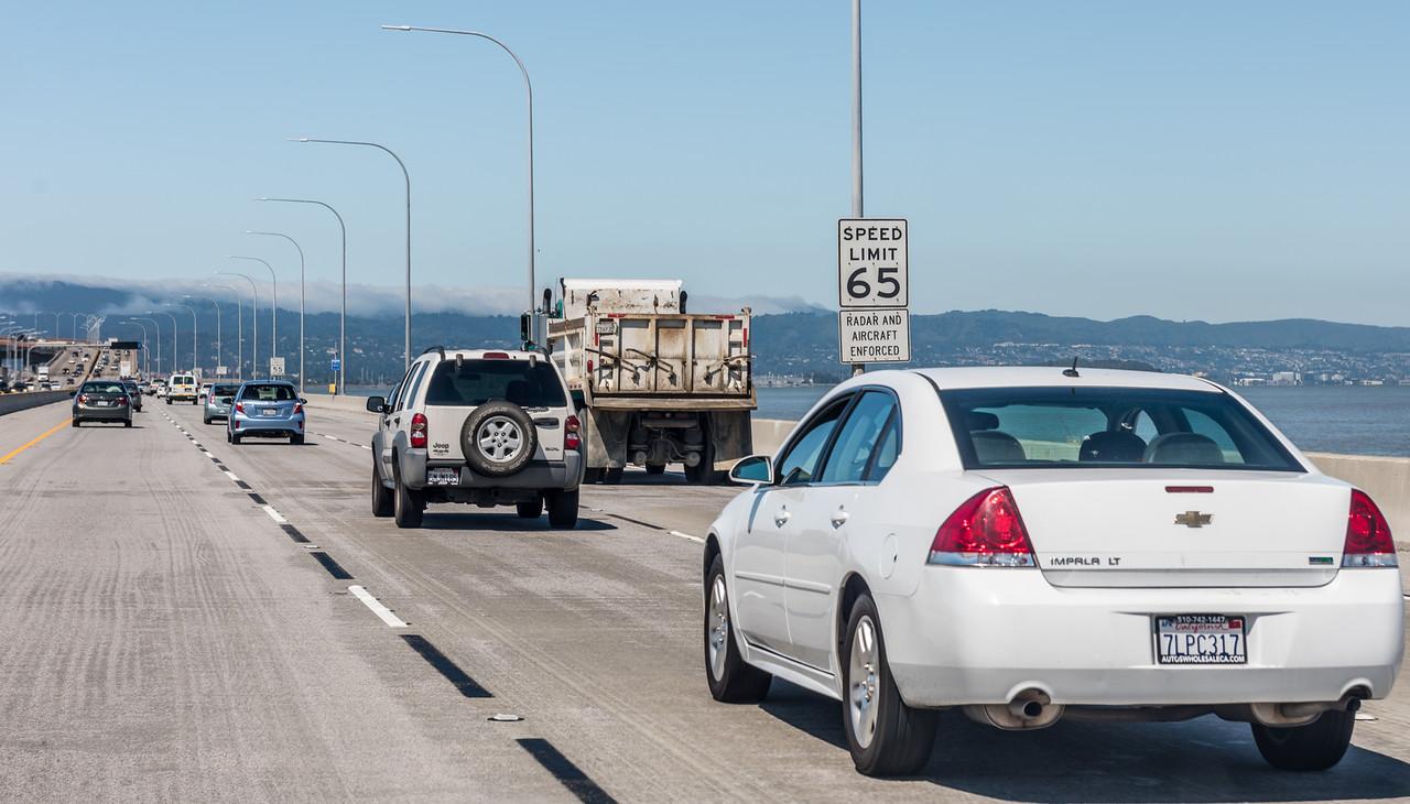 Speed limit enforcement - by airplane! San Francisco, CA.