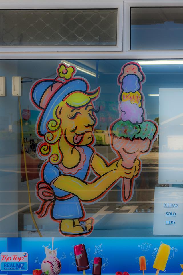 Oamaru ice cream shop