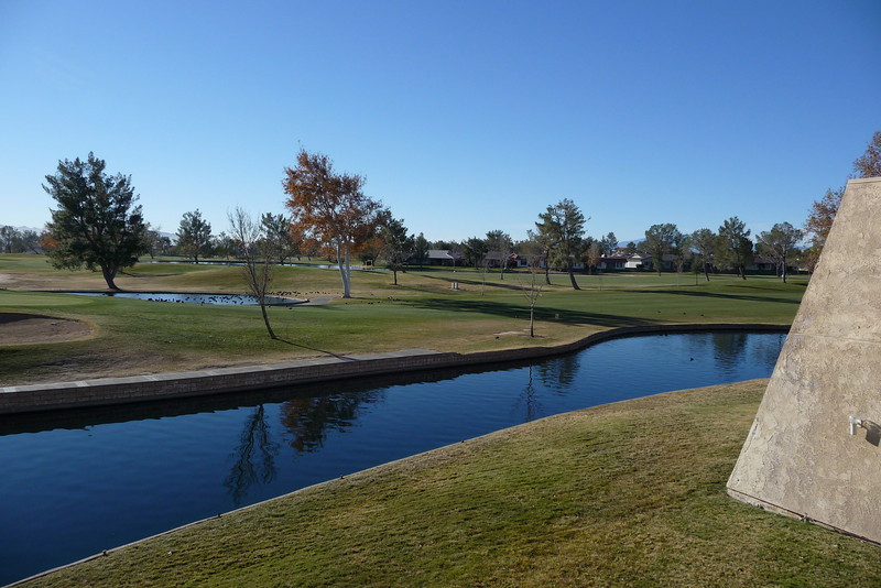 The golf course as seen from the Silver Lakes Inn