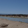 The Mojave River with the San Bernardio Mountains in the distance