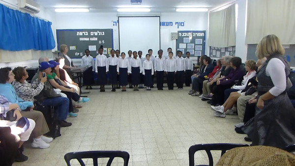 Students at the Sinai Elementary School in Kiryat Yam, Israel