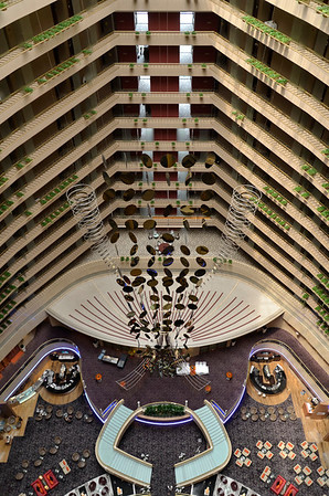 Face? Looking down from the 19th floor, Marina Mandarin, Singapore