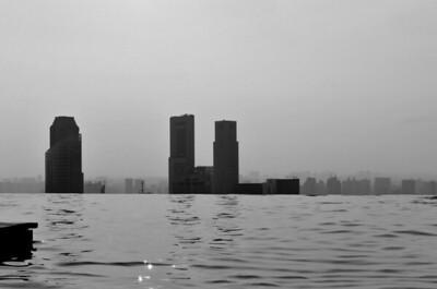 Sinking city of Singapore
