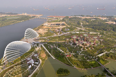 Conservatories, Garden By the Bay, Singapore viewed from Sky Deck, MBS, Singapore