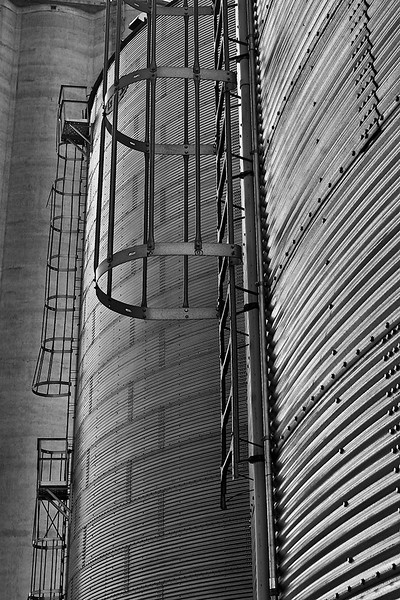 Detail of grain elevators in Burlington, CO<br /> ©2008 Peter Aldrich