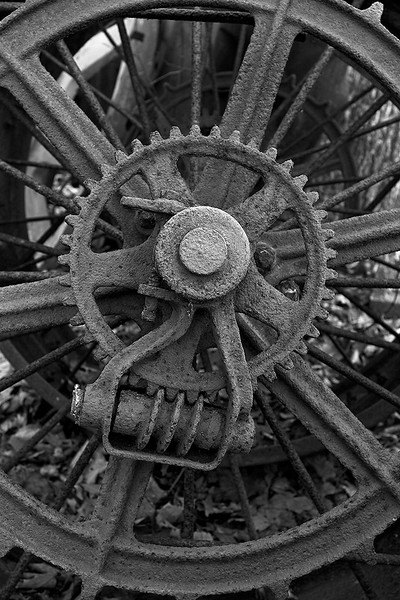 Old tractor detail<br /> ©2006 Peter Aldrich