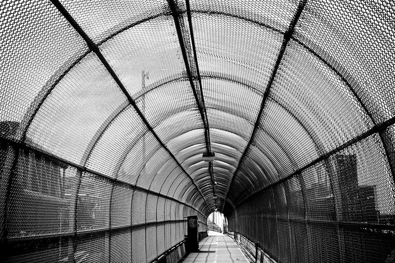 Pedestrian overpass<br /> ©2017 Peter Aldrich