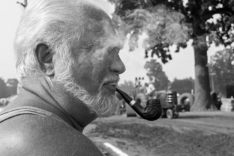 Spectator at Ohio tractor pull competition<br /> ©2008 Peter Aldrich