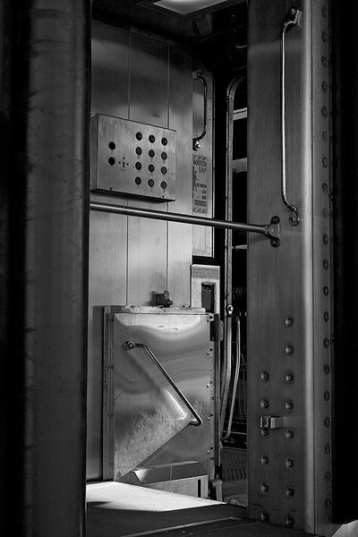 Vestibule of RR car<br /> ©2006 Peter Aldrich