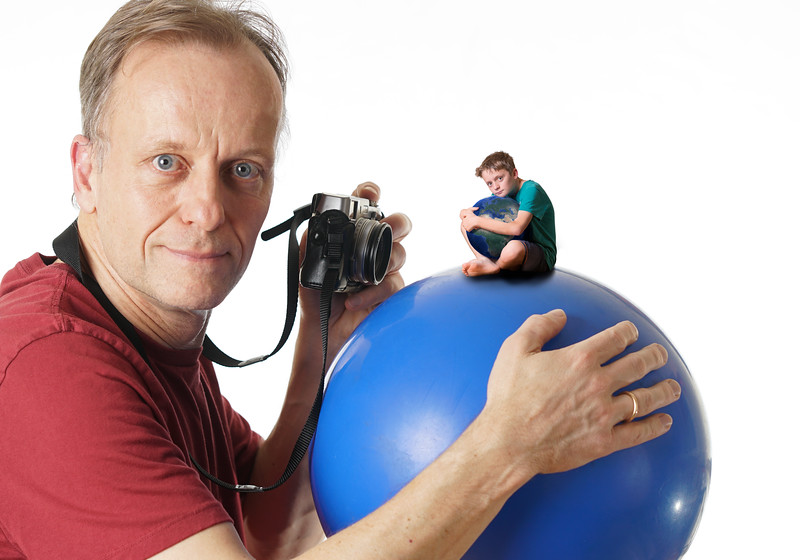 """""""I would photograph children with a beach ball, to inspire us into saving our planet."""""""