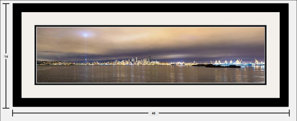 "Seattle Skyline 32""x8"" Example"