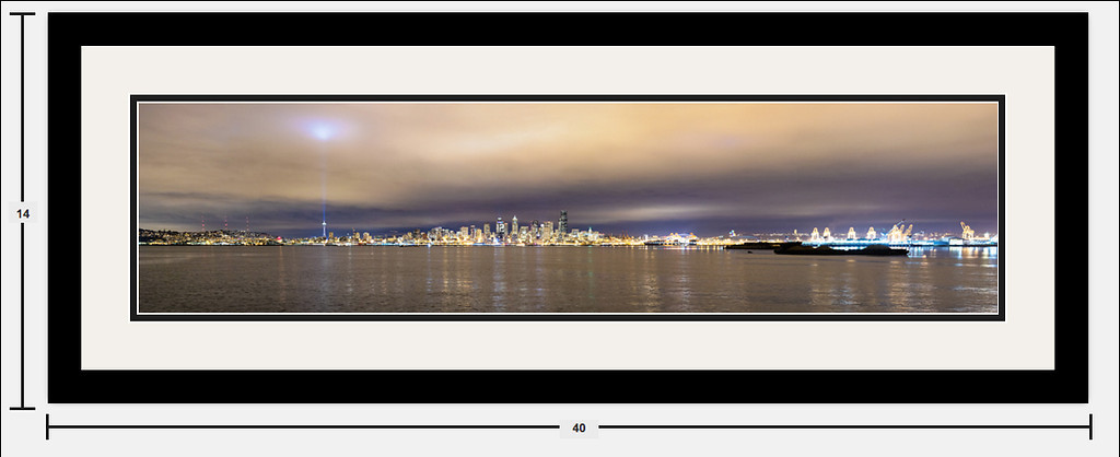 "Seattle Skyline 32""x8"" Example"