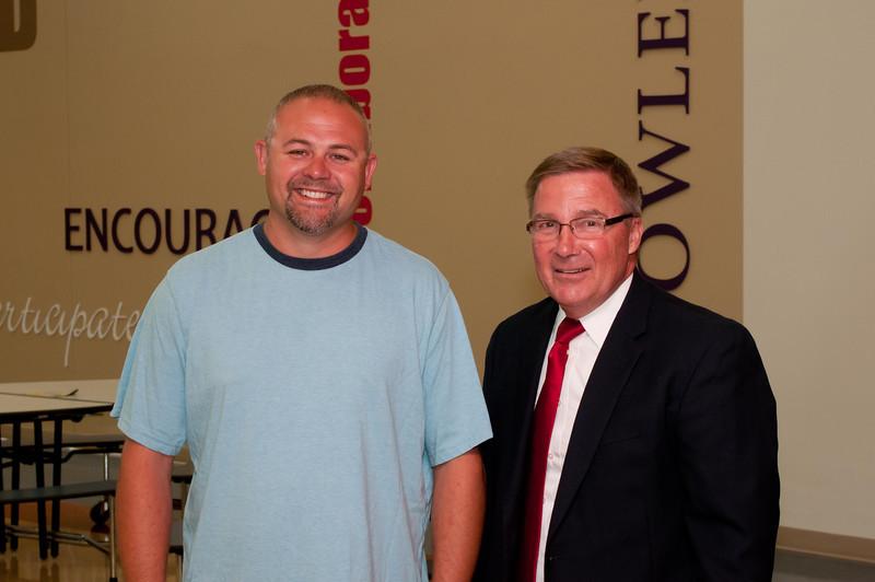 Head Custodian Ryan Oltman, Principal Brandt