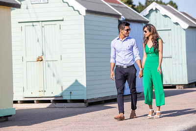 Beach hut photoshoot