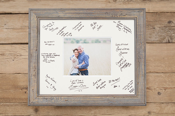 Sample of a wedding guest signing frame