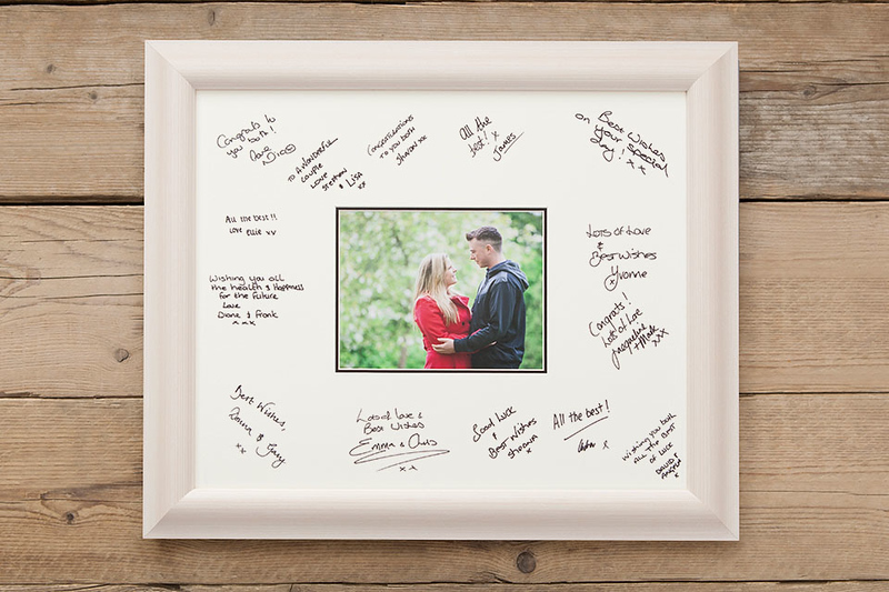 Wedding day guest signing frame