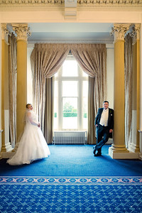 The bride and Groom at Down Hall
