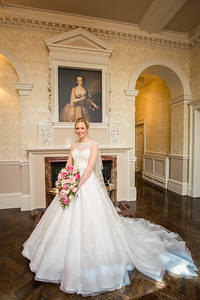 The bride at Down Hall weddings
