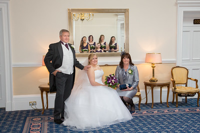 Brides family and bridal party