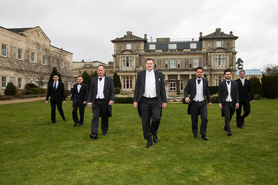 The grooms men at Down Hall