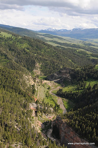 Aerial view of Eagles Tunnel located along the main line between Harlowton and Three Forks Montana. Photography by Jim R. Harris Bozeman Montana aerial photography 2011