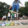 A student skates at the informal Freedom Contest at Shenzhen University.