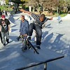 Flip tricks on street course. Potrero del Sol skatepark, Potrero Ave. and 25th St., Potrero Hill District, San Francisco, California.