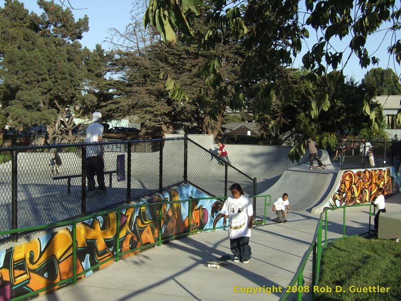 Edge mural and sidewalk. Potrero del Sol skatepark, Potrero Ave. and 25th St., Potrero Hill District, San Francisco, California.