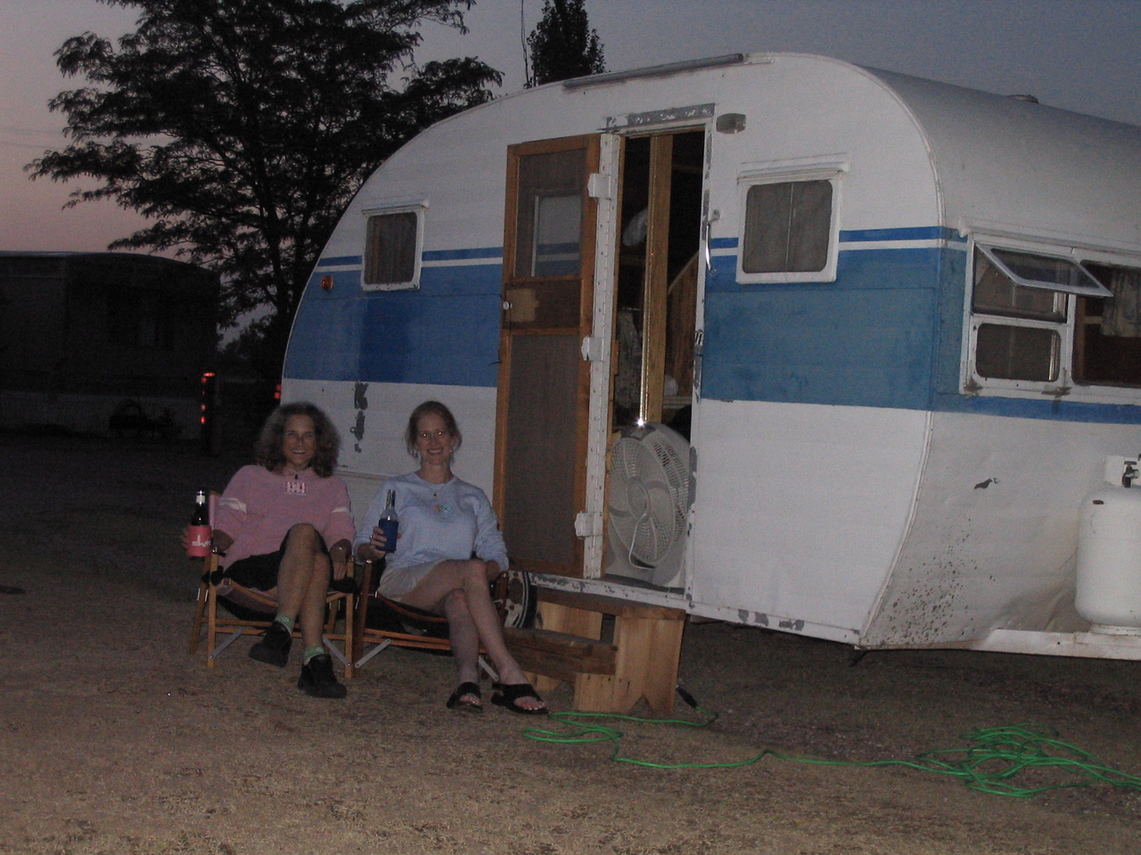 SKERT and Marylee first night caming in the Mallard
