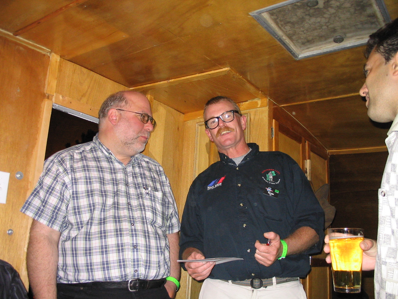Mike Kneebone and Rob Nye at the Twisy Sisters compound.