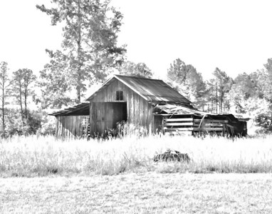Old barn on Finley Place near Thomaston, Alabama