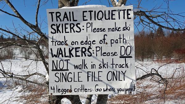 Ski, Snow, Walk Etiquette