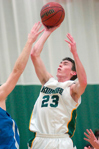 Skidmore's Brian Lowry goes up for a shot during Tuesday's game against Hartwick. Ed Burke 11/29/10
